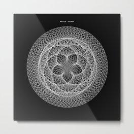 Venus Flower - Black Metal Print