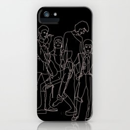 Davie Bowie Line Print iPhone Case