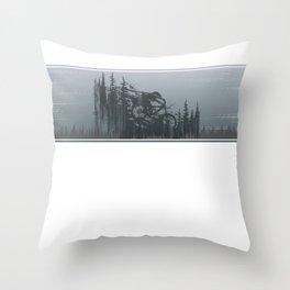 Mountains Bike Line Throw Pillow