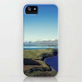 She felt tiny in Lake Tekapo iPhone Case