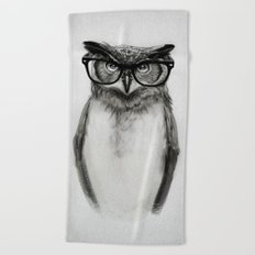 Mr. Owl Beach Towel