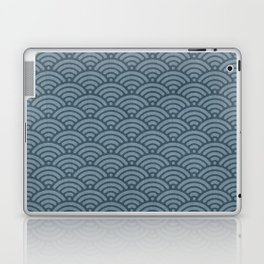Blue Indigo Denim Waves Laptop & iPad Skin