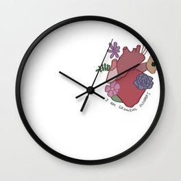 I Am Growing Flowers Wall Clock