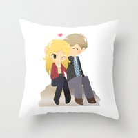 ouat Throw Pillows featuring OUAT - Daddy Charming by Choco-Minto
