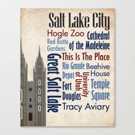 Travel - Salt Lake City Canvas Print
