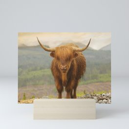 Highland Moo Mini Art Print