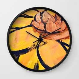 Lotus Painting by: The Tea Confidential Wall Clock