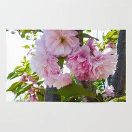 Summer Pink Flowers Rug
