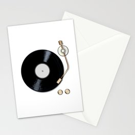Record Deck Stationery Cards