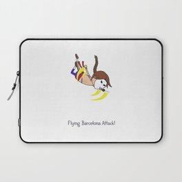 Flying Barcelona Attack Laptop Sleeve