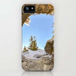 Winter Cave Hole iPhone Case