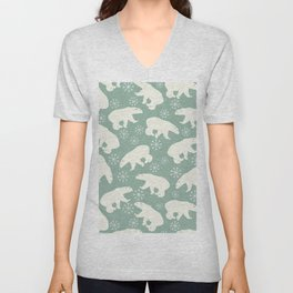 Merry Christmas - Polar bear - Animal pattern Unisex V-Neck