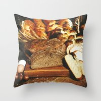 food Throw Pillows featuring Food by Kathrin Legg