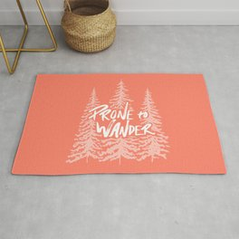 Prone to Wander - Coral Rug