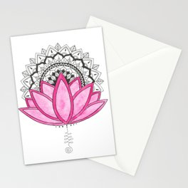 Pink Lotus Mandala Stationery Cards