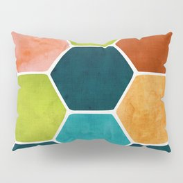 Colorful Terra Cotta - hexagon tile pattern Pillow Sham