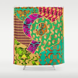 Tile 9 Shower Curtain