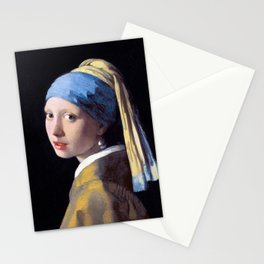 Girl with a Pearl Earring by Johannes Vermeer (c. 1665) Stationery Cards
