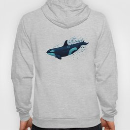 """Lost in Serenity"" by Amber Marine ~ Orca / Killer Whale Art, (Copyright 2015) Hoody"