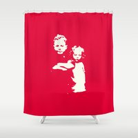 family Shower Curtains featuring Family by JophenStein