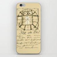 da vinci iPhone & iPod Skins featuring Kot da Vinci by Katja Main