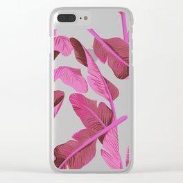 Tropical '17 - Ajaja [Banana Leaves] Clear iPhone Case
