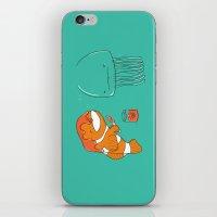 jellyfish iPhone & iPod Skins featuring Jellyfish by Lili Batista