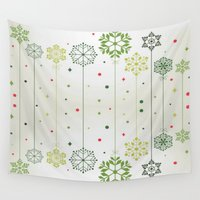 deco Wall Tapestries featuring Holidays Deco by Elena Indolfi