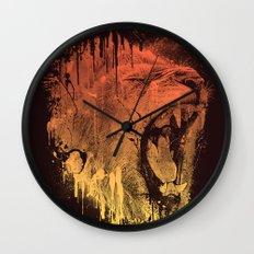 FIERCE LION Wall Clock
