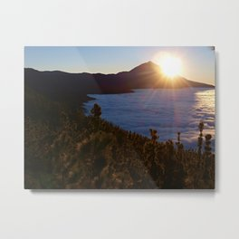 Sunset Canary Islands forest and Volcano Teide in Tenerife Metal Print