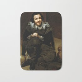 "Diego Velázquez ""The Buffoon Juan de Calabazas (Calabacillas)"" Bath Mat"