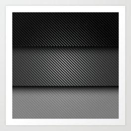 Carbon Fibre Mask Art Print