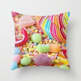 Rainbow Candy Throw Pillow
