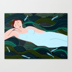 Lady of the Waves Canvas Print