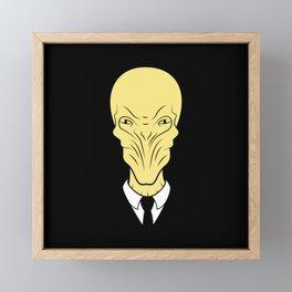 The silence will fall Framed Mini Art Print