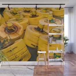 Yellow gathering Wall Mural