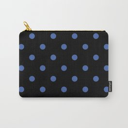 Black With Blue Polka Dots Carry-All Pouch