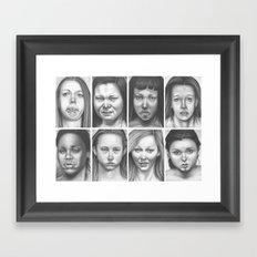 cry, don't cry Framed Art Print