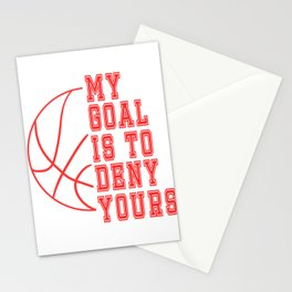 """Grab it if you understand it!Think its the right tee for you?Have it now! """"My Goal Is To Deny Yours! Stationery Cards"""