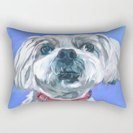 Malti Poo Dog Portrait Rectangular Pillow