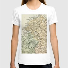 Encyclopedia Retro Map of Northern Ireland T-shirt