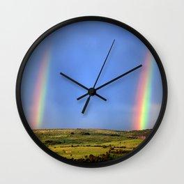 Doudble Rainbow Wall Clock