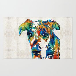 Colorful Great Dane Art Dog By Sharon Cummings Rug
