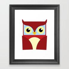 The Red Owl. Framed Art Print