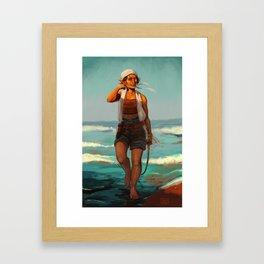 Elven sailor Framed Art Print