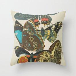 Art Nouveau Butterfly Throw Pillow