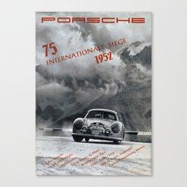 Vintage 1952 Racing Poster Canvas Print