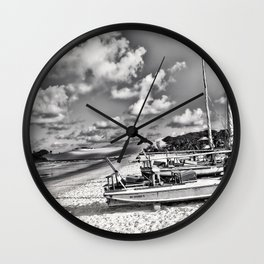 Lagune Nuageuse Wall Clock