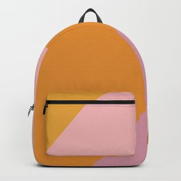 Shapes in Vintage Modern Pink, Orange, Yellow, and Lavender Backpack