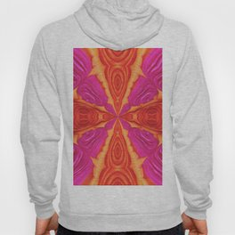 330 - Abstract Flower Design Hoody
